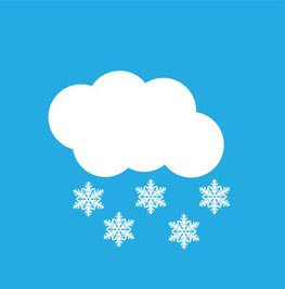Flat weather icon set of 16